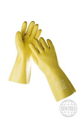 Kép STANDARD ke 9 kesztyű PVC 35 cm - sárga