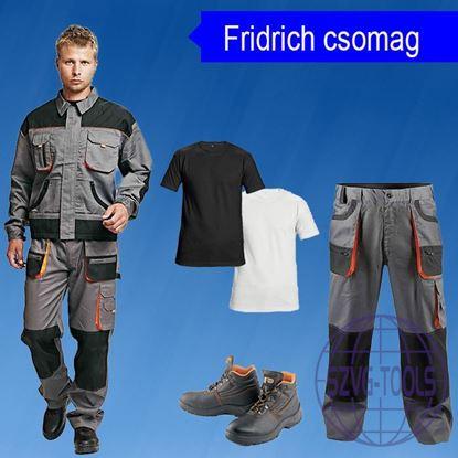 Fridrich-BE-csomag-kabát, derekas nadrág, póló, bakancs